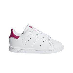 Adidas Stan Smith Bébé Blanche Et Rose 25 Baskets
