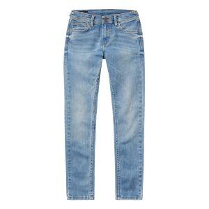 Pepe Jeans Jeans enfant FINLY MJ7 C.000DENIM Gris - Taille 4 ans,6 ans,8 ans,10 ans,12 ans,14 ans