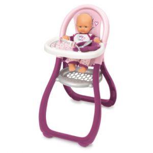Smoby Chaise haute pour poupée Baby Nurse rose/rose vif