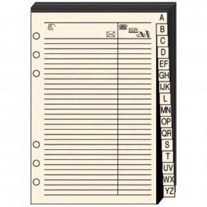 Quo Vadis 721017Q - Répertoire téléphonique T17 papier ivoire
