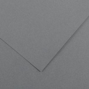 Canson 200040073 - Feuille Iris Vivaldi 50x65 120g/m², coloris gris foncé 36