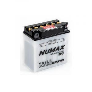 Numax Batterie moto Standard avec pack acide YB9L-B 12V 9Ah 115A