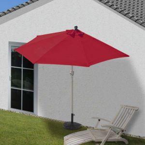 Mendler Demi Parasol Parla, UV 50+ ~ 300cm Bordeaux avec Pied