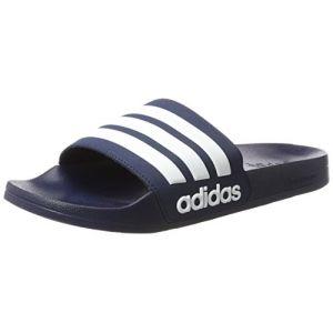 Adidas Cloudfoam Adilette, Chaussures de Plage et Piscine Homme, Bleu (Collegiate Navy/Footwear White/Collegiate Navy 0), 47 1/3 EU