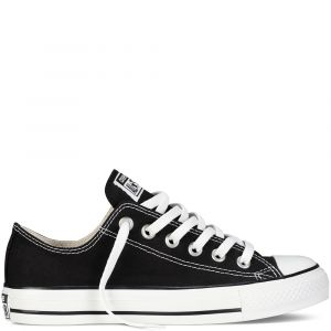 Converse Chaussures casual unisexes Chuck Taylor All Star Basses Toile Noir - Taille 42,5