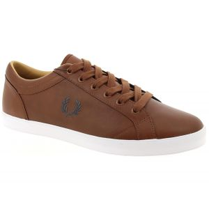 Fred Perry Baseline Leather Tan 42