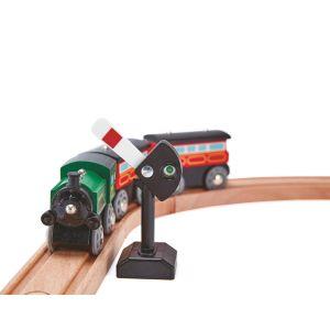 Hape Panneaux en bois de signalisation et rails