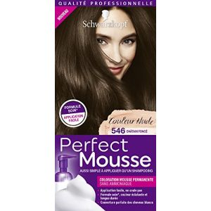 Image de Schwarzkopf Perfect mousse - Coloration châtain fonce n°546