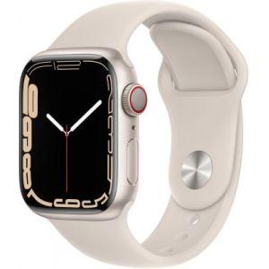 Apple Watch Series 7 GPS + Cellular Aluminium Lumière Stellaire Bracelet Sport 41 mm