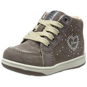 Geox B New Flick D, Sneakers Basses bébé fille, Marron (Smoke Grey), 26 EU