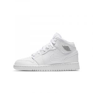 Nike Chaussure Air Jordan 1 Mid pour Enfant plus âgé - Blanc - Couleur Blanc - Taille 39