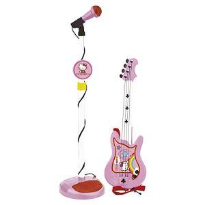 Guitare rock et Micro Hello Kitty
