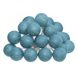 Atmosp ra Guirlande décorative l ineuse Bleue 20 boules LED D 6 cm et L 436 cm???????