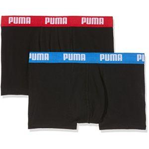Puma Lot de 2 Boxers Basiques - Noir/Rouge/Bleu - L - Noir