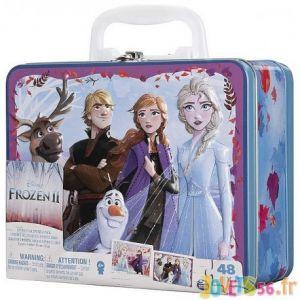 Spin Master Disney La Reine des Neiges 2 - Grande valisette métal 2 puzzles lenticulaires Frozen 2