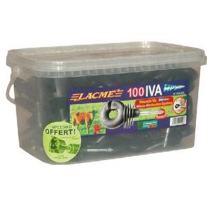 """Lacme Isolateur """"IVA HPX"""" pour poteaux bois (x100)"""
