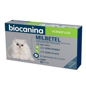 Biocanina Milbetel Vermifuge Chat de 2 kg 2 comprimés