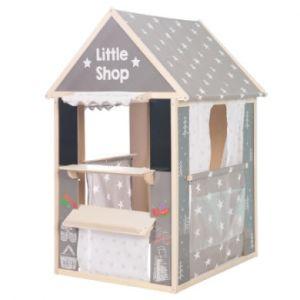 Roba Maison cabane de jeu enfant étoiles bois