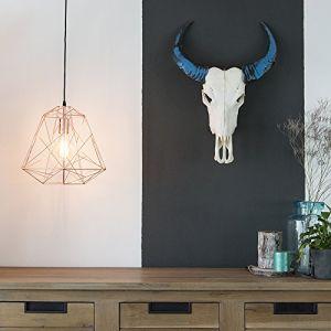 Qazqa Suspension Framework cuivre Design, Industriel / Vintage, Moderne Minimaliste Vintage Cage Lampe Luminaire interieur
