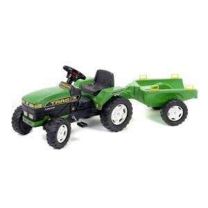 Falk Tracteur à pédales Farmtrac avec remorque petit modèle