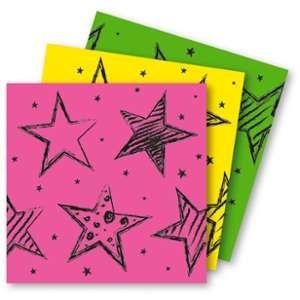16 Serviettes en papier Neon Party (33 x 33 cm)