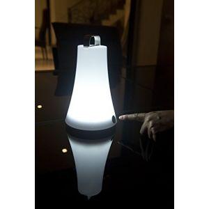 Lumisky T111 Baladeuse Lanterne Lumineuse LED Autonome avec Anse + Crochet en ABS Blanc 14 x 14 x 23 cm