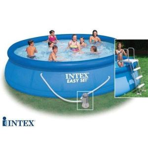 Intex 56409FR - Piscine hors sol autostable Easy Set ronde Ø 457 x 107 cm