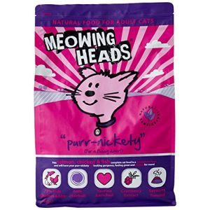 Meowing Heads Purr Nickety - Croquettes pour chat - Saumon - 4 kg