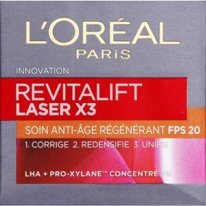 L'Oréal Soin anti-âge régénérant FPS 20 Revitalift Laser X3 - Le pot de 50 ml
