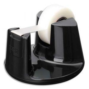 Tesa Dévidoir Compact noir avec un ruban d'adhésif invisible 19mm x 33m - Lot de 2