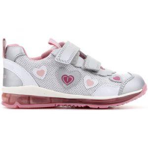 Geox B Todo A, Sneakers Basses bébé Fille, Argent (Silver), 23 EU