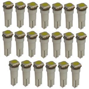 Aerzetix : 20x Ampoules T5 24V LED SMD blanc pour tableau de bord camion semi-remorque