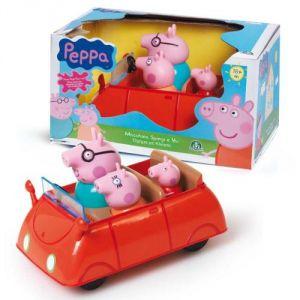 Giochi Preziosi 4902 - Figurine Peppa Pig : Voiture Push et Go avec 3 personnages