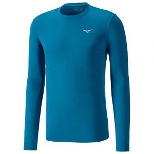 Mizuno Impulse Core LS Tee M vêtement running homme Bleu - Taille XL
