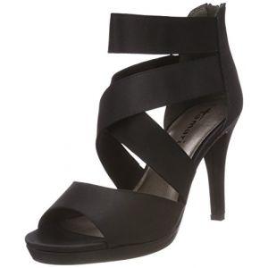 Tamaris 28038, Sandales Bride Cheville Femme, Noir (Black 001), 38 EU