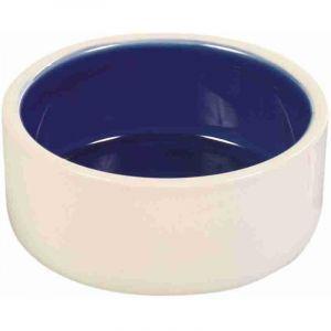 Trixie Ecuelle céramique - 0,35 L/ø 12 cm, crème/bleu
