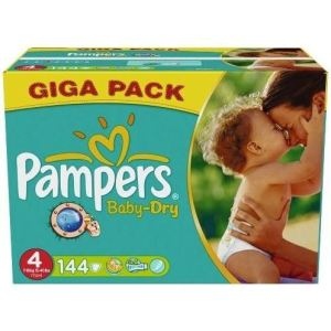 Pampers Baby Dry taille 4 Maxi (7-18 kg) - Giga pack x 144 couches