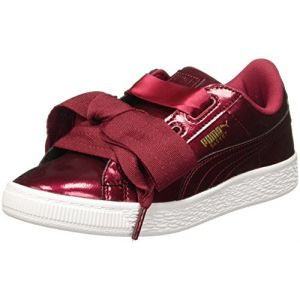 Puma Basket Heart Glam PS, Sneakers Basses Mixte Enfant, Rouge (Tibetan Red-Tibetan Red), 31 EU