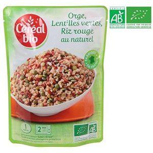 Céréal bio Boulghour d'orge, riz rouge et lentilles vertes