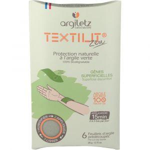 Argiletz Textilit Zen - 6 feuillets d'argile protection naturelle à l'argile verte