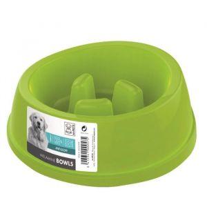 M pets Gamelle en plastique simple MELAMINE BOWL - Pour chien - 1400ml - Coloris divers - Gamelle simple - Antidérapante - Système anti-glouton