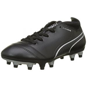 Puma One 17.4 FG Jr, Chaussures de Football Mixte Enfant, Bleu (Black-Black-Silver), 37 EU