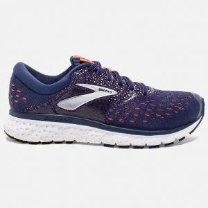 Brooks Glycerin 16, Chaussures de Running Femme, Bleu (Navy/Coral/White 494), 42 EU