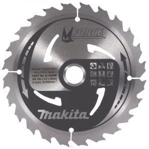 Makita B-08006 M Force Lame de scie circulaire pour couper le bois, 24 dents, 165 x 20 mm – Rouge/argent