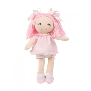 La nina Poupée de chiffon Cristina avec sa robe à pois rose : 35 cm