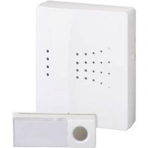 Heidemann Sonnette sans fil 70830 Set complet 150 m blanc