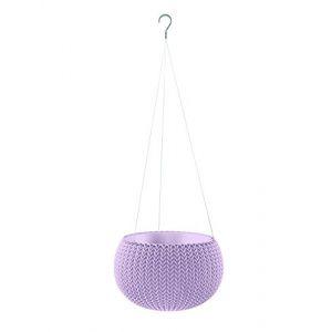Curver Pot de fleur aspect tricot avec suspensions - 28cm - Mauve
