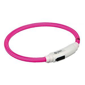 Trixie Flash anneau lumineux usb pour chats - 35 cm/ø 7 mm, rose