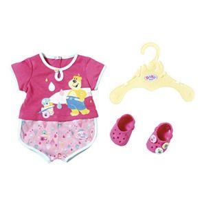 Zapf Creation 827437 Baby Born Bath Pyjamas & Clogs Rose 43 cm