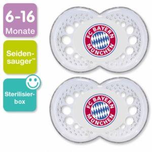 Image de Mam Sucette Football FC Bayern Munich en silicone (6-16 mois)